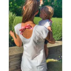 Set Máma & Dcera bílé triko