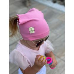 Letní šáteček na hlavu růžový