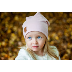 Dětská čepice - pudrově růžová