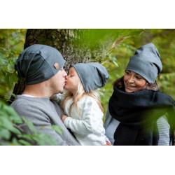 Čepice pro celou rodinu - šedá