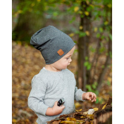 Dětská čepice - šedá