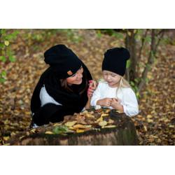 Čepice Maminka & dítě - černá