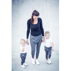 Tepláky Máma & Dítě šedé