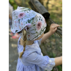 Letní šáteček na hlavu kvítí